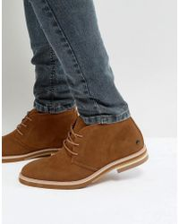 Call It Spring - Adraecien Suede Desert Boots In Tan - Lyst