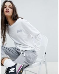 New Balance - Long Sleeve T-shirt In White - Lyst