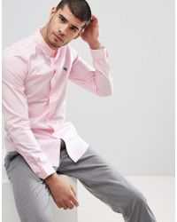 PS by Paul Smith - Tailored Fit Zebra Logo Shirt In Pink - Lyst