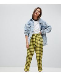 Daisy Street - Peg Trousers In Check - Lyst