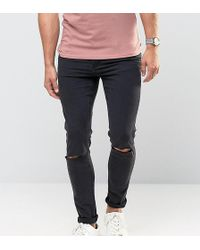 Cheap Monday - Jeans Tight Skinny Fit Very Black Ripped Knee - Lyst