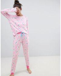 Chelsea Peers - Magic Unicorn Rainbow Long Pajama Set - Lyst