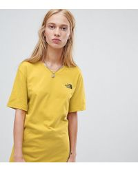 The North Face - Exclusive To Asos Simple Dome T-shirt In Yellow - Lyst