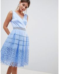Chi Chi London - Cutwork Lace Prom Dress - Lyst