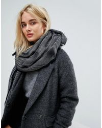 SELECTED - Stripe Scarf - Lyst