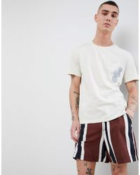 Mango - Man Embroidered T-shirt In White - Lyst