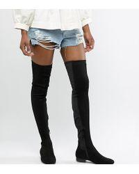 ASOS - Asos Design Tall Kelby Flat Elastic Thigh High Boots - Lyst