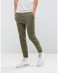Hollister - Woven Utility Jogger Slim Fit In Green - Lyst