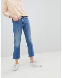 ONLY - Straight Leg Jean With Raw Hem - Lyst