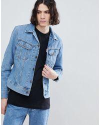 Lee Jeans - Giacca stile motociclista slim lavaggio super stone wash - Lyst
