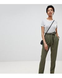 ASOS - Design Tall Woven Peg Pants With Obi Tie - Lyst