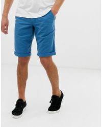 Esprit - Slim Fit Chino Short In Blue - Lyst