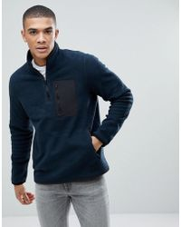 Abercrombie & Fitch | Black Label Sports 1/4 Zip Trail Fleece In Navy | Lyst