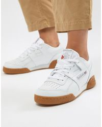 Reebok - Classic Workout Trainers With Gum Sole - Lyst