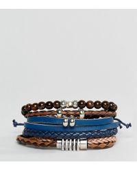 ALDO - Black / Brown Bracelets 4 Pack - Lyst