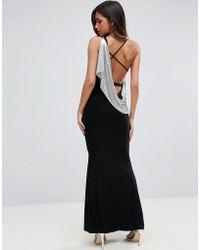ASOS - Chainmail Asymmetric Back Maxi Dress - Lyst