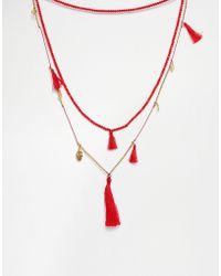 Love Rocks - Coin & Tassel Necklace - Lyst