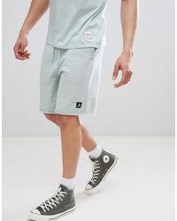 Converse - Essentials Cut-off Shorts In Green 10003347-a10 - Lyst