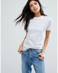 SELECTED - T-shirt In Stripe - Lyst