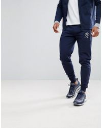 Gym King - Skinny Track Joggers In Navy - Lyst
