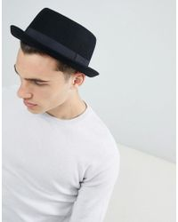d8a233ee898c6a ASOS Fedora Hat With Unstructured Crown in Black for Men - Lyst
