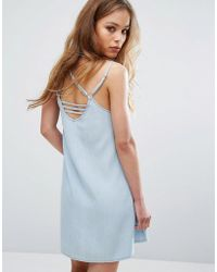 RVCA - Cami Dress With Harness Strapping - Lyst