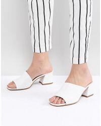 ASOS - Design Tatiana Leather Heeled Sandals - Lyst