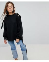 ONLY - Jumper With Eyelet Detail - Lyst