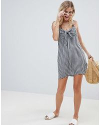 Billabong - Tie Shoulder Sweet Pie Beach Dress - Lyst