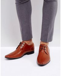 New Look - Derby Shoes In Brown - Lyst