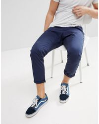 Esprit - Chino Trouser With Cropped Tapered Leg - Lyst