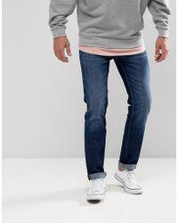 Lee Jeans - Rider Slim Fit Jean Mid Wash - Lyst
