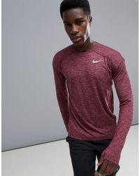 Nike - Dry Element Crew Neck Sweat In Purple 910034-652 - Lyst