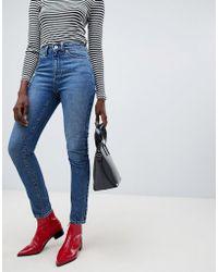 Vero Moda - Aware High Waist Straight Leg Jeans - Lyst