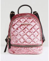 ALDO - Adroiana Velvet Mini Backpack - Lyst