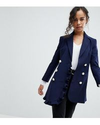 ASOS - Blazer With Frill Detail - Lyst