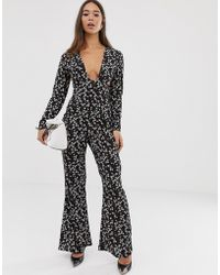 c96b2827d5 Fashion Union - Jumpsuit With Cut Out Waist In Floral - Lyst