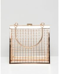 ASOS - Triangle Cage Clutch Bag - Lyst