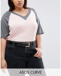 ASOS - Contrast Edge Jeans Belt - Black - Lyst