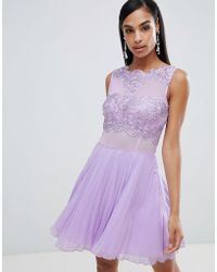 AX Paris - Tulle Skater Dress With Embellished Detail - Lyst
