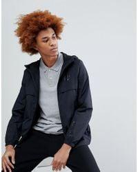 Timberland - Lightweight Hooded Shell Jacket Hood Logo In Black - Lyst