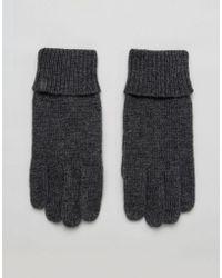 Esprit - Knitted Gloves In Grey - Lyst