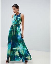 Coast - Montego Printed Maxi Dress - Lyst