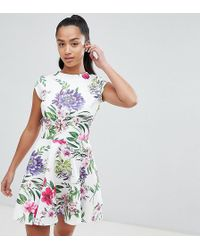 a510f9f62d John Zack - Allover Printed Mini Prom Dress - Lyst