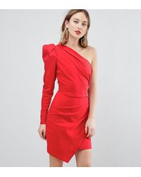 ASOS - Ultimate One Shoulder Structured Mini Dress - Lyst