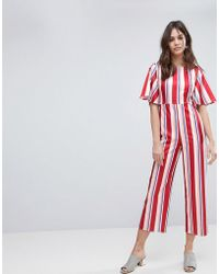 Fashion Union | Tailored Jumpsuit In Stripe | Lyst