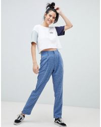 Daisy Street - Cigarette Trousers In Check - Lyst