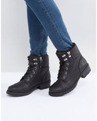 Call It Spring - Legiaven Faux Fur Hiking Boots - Lyst