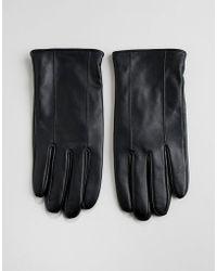 Barneys Originals - Barneys Leather Gloves In Black - Lyst