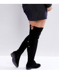 c1213e590467 ASOS - Keep Up Wide Fit Tall Over The Knee Boots - Lyst